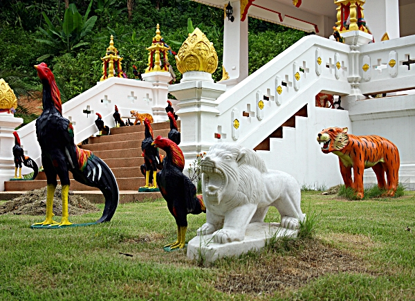 Thai Burma cockfight memorial
